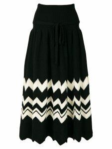 Comme Des Garçons Pre-Owned 1989 zig-zag knitted skirt - Black