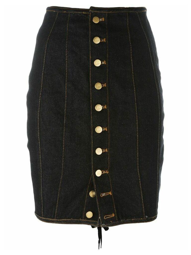 Jean Paul Gaultier Pre-Owned Junior Gaultier laced pencil skirt - Blue