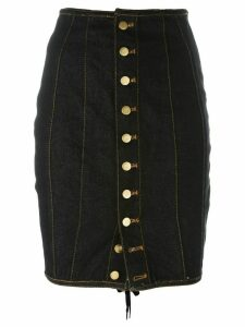 Jean Paul Gaultier Pre-Owned Junior Gaultier laced pencil skirt - Blue