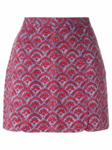 Vivienne Westwood Pre-Owned baroque flower printed skirt - Red