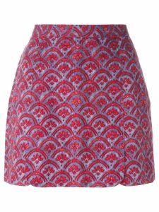Vivienne Westwood Pre-Owned baroque flower printed skirt - Red