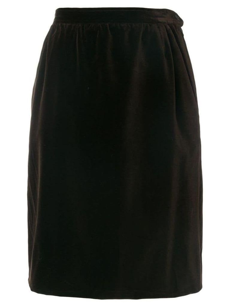 Yves Saint Laurent Vintage straight skirt - Brown