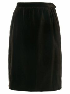 Yves Saint Laurent Pre-Owned straight skirt - Brown