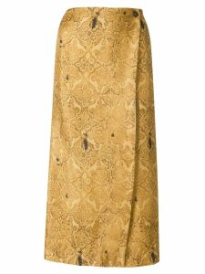 A.N.G.E.L.O. Vintage Cult retro floral envelope skirt - Neutrals