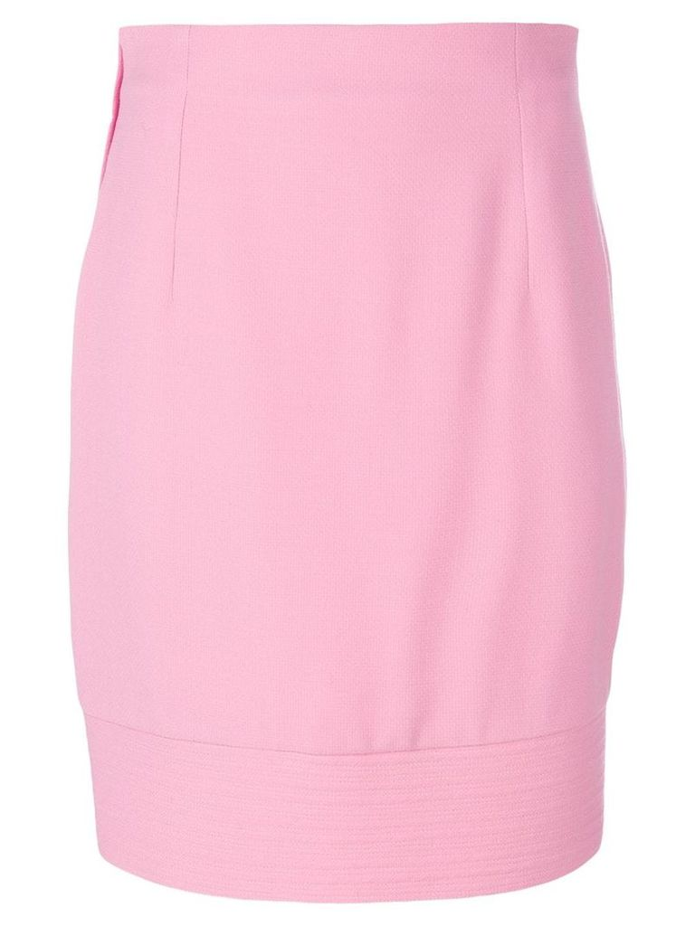 Versace Vintage fitted midi skirt - Pink