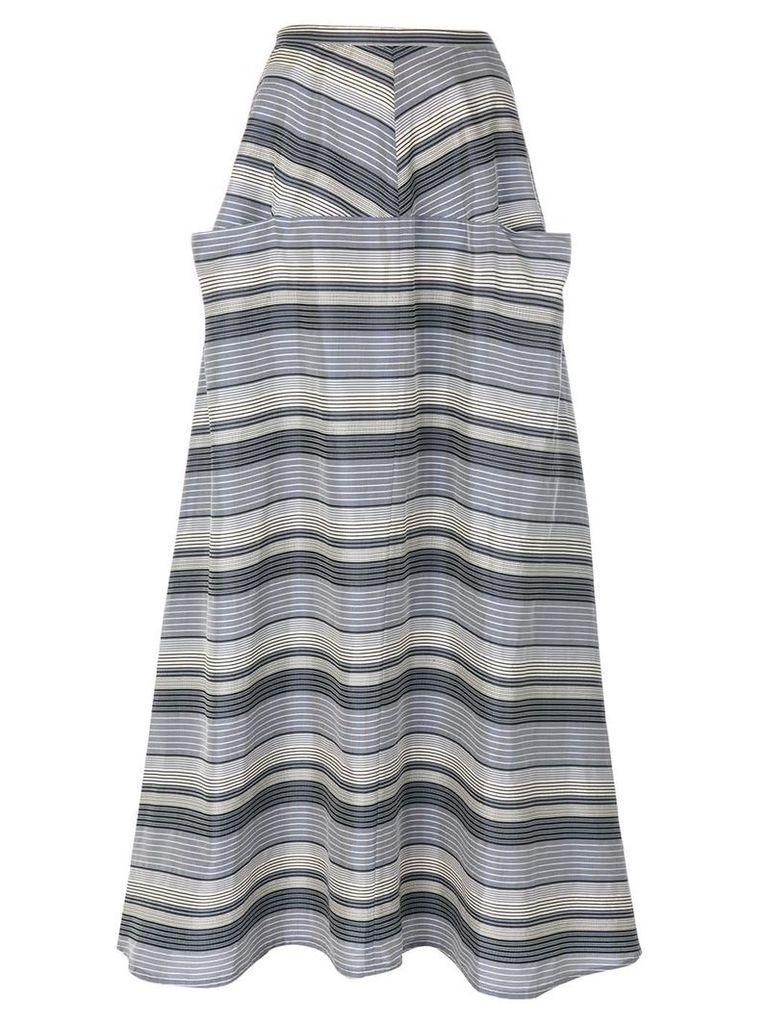 YOHJI YAMAMOTO PRE-OWNED striped skirt - Blue