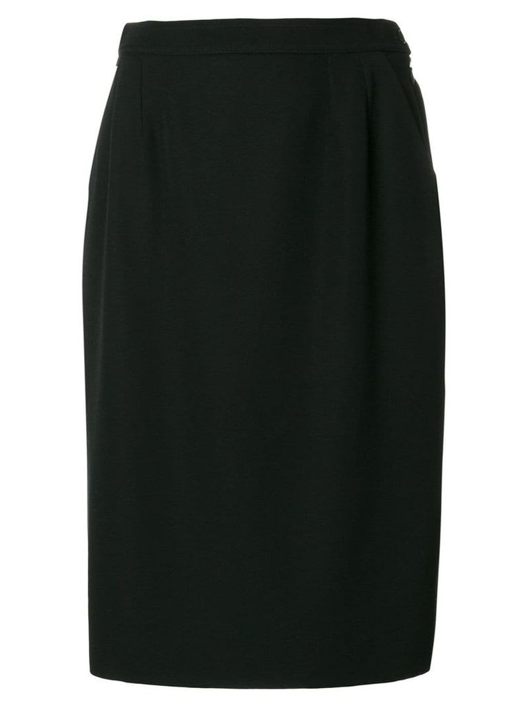 Yves Saint Laurent Pre-Owned classic pencil skirt - Black