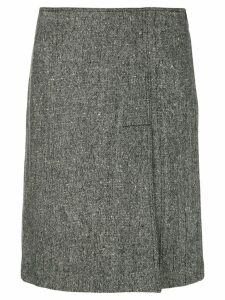 MOSCHINO PRE-OWNED slit front A-line skirt - Grey