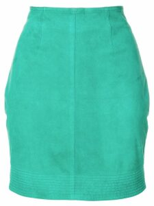 VERSACE PRE-OWNED mini fitted skirt - Green