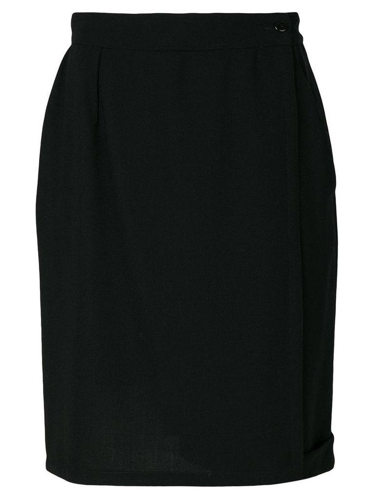 Versace Vintage straight style skirt - Black