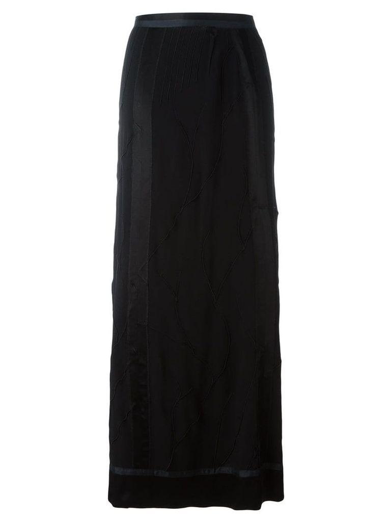 Jean Paul Gaultier Vintage textured maxi skirt - Black