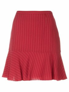 Moschino Pre-Owned pinstripe mini skirt - Red