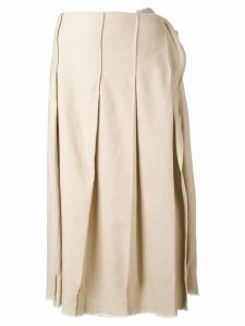 Yohji Yamamoto Pre-Owned pleated skirt - Neutrals
