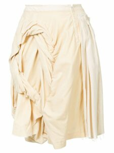 Comme Des Garçons Pre-Owned frayed draped skirt - White