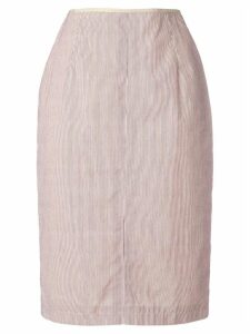 Jean Paul Gaultier Pre-Owned striped pencil skirt - Neutrals