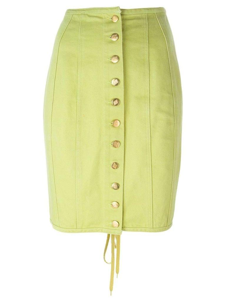 Jean Paul Gaultier Vintage buttoned denim skirt - Green