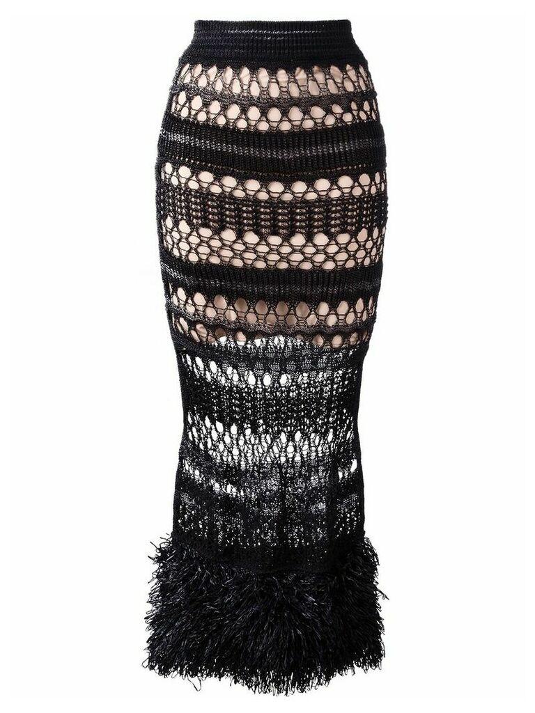 Jean Paul Gaultier Vintage long crochet skirt - Black