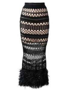 Jean Paul Gaultier Pre-Owned long crochet skirt - Black