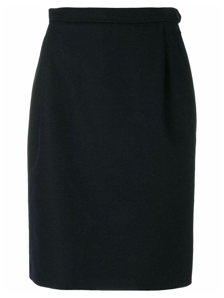 Yves Saint Laurent Vintage knee-length pencil skirt - Blue