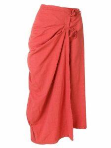 A.N.G.E.L.O. Vintage Cult tied draped midi skirt - Pink