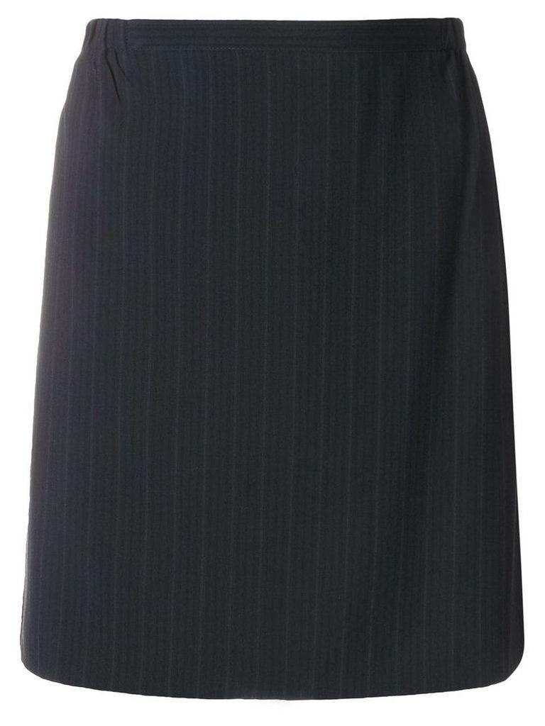 Giorgio Armani Pre-Owned pinstripe short skirt - Black