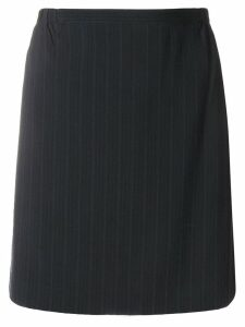 Giorgio Armani Pre-Owned pinstripe short skirt - Black