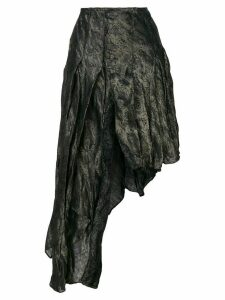 Romeo Gigli Pre-Owned roses jacquard asymmetric skirt - Grey