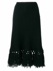 Dolce & Gabbana Pre-Owned fringed knitted skirt - Black