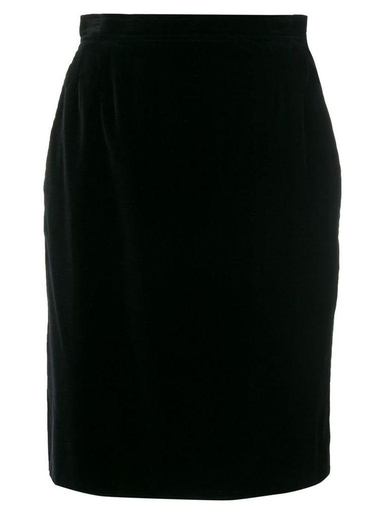 Yves Saint Laurent Vintage straight short skirt - Black