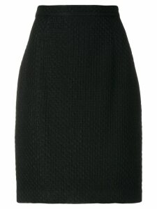 Krizia Pre-Owned straight skirt - Black