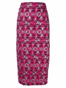 Comme Des Garçons Pre-Owned 1999 brocade wrap skirt - Pink