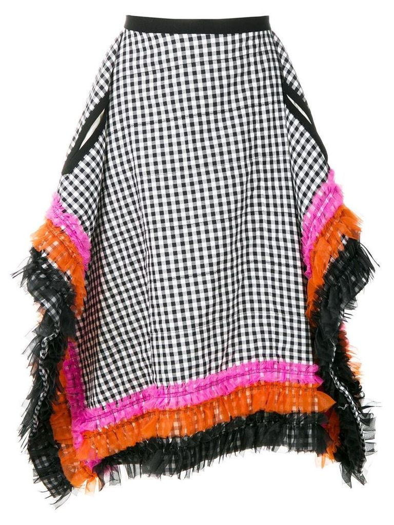 Comme Des Garçons Pre-Owned gingham check square skirt - Blue