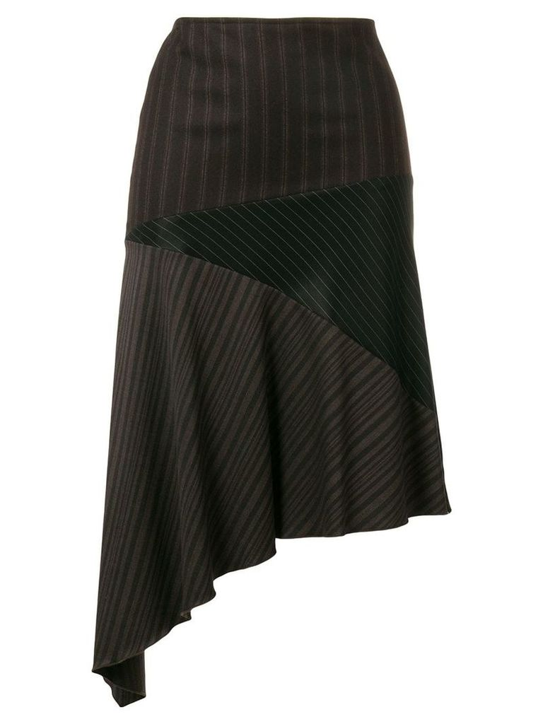 Romeo Gigli Vintage asymmetric draped skirt - Brown