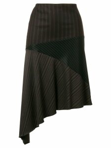 Romeo Gigli Pre-Owned asymmetric draped skirt - Brown