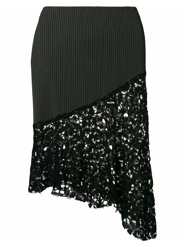 Romeo Gigli Vintage asymmetric fitted skirt - Black