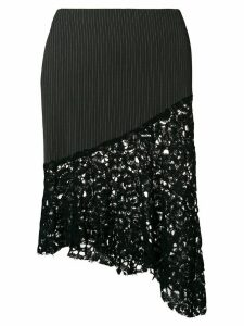 Romeo Gigli Pre-Owned asymmetric fitted skirt - Black