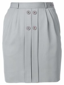 Valentino Pre-Owned button-detail fitted skirt - Grey
