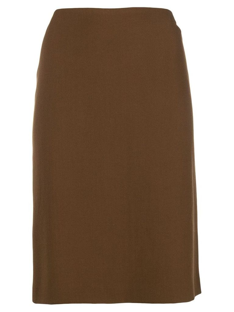 Romeo Gigli Vintage fitted midi skirt - Brown