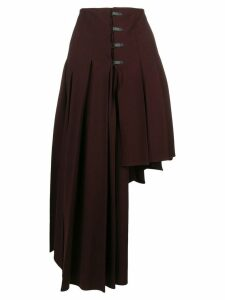 Romeo Gigli Pre-Owned asymmetric draped skirt - Red