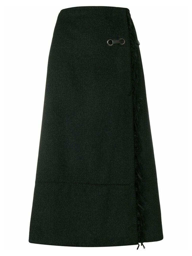 Paco Rabanne Vintage wrap-around A-line skirt - Grey
