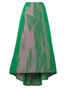 BALMAIN PRE-OWNED printed full skirt - Green