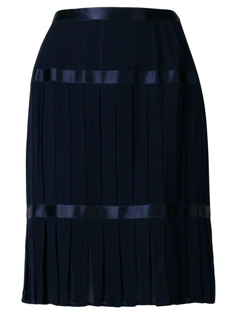 Yves Saint Laurent Vintage pleated mid-length skirt - Blue
