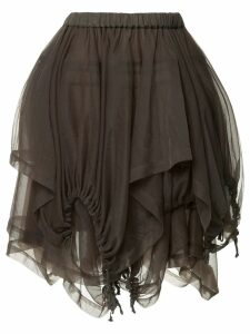 Comme Des Garçons Pre-Owned ruffle mini skirt - Green