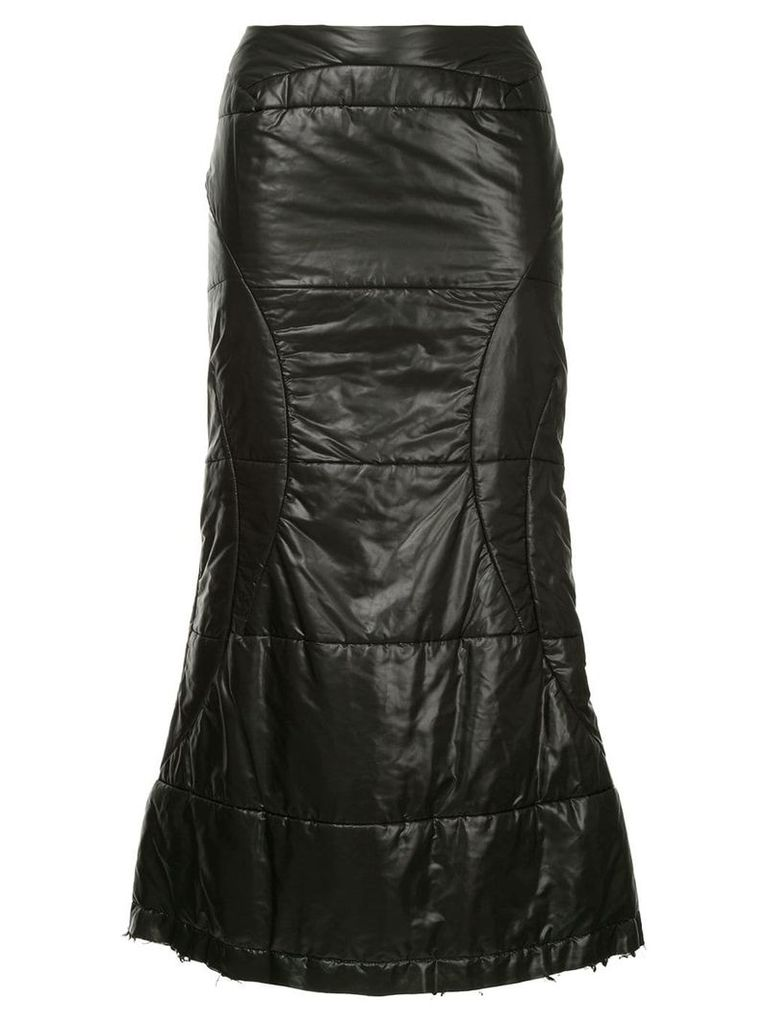 Junya Watanabe Comme Des Garçons Vintage flared midi skirt - Black
