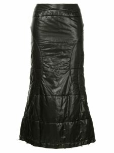 JUNYA WATANABE COMME DES GARÇONS PRE-OWNED flared midi skirt - Black