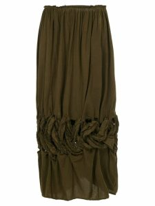 Comme Des Garçons Pre-Owned knot flared midi skirt - Green
