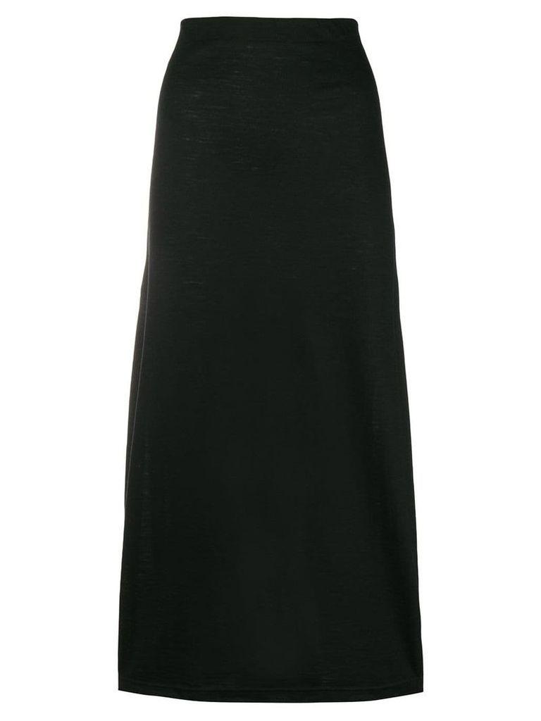 Comme Des Garçons Vintage straight midi skirt - Black