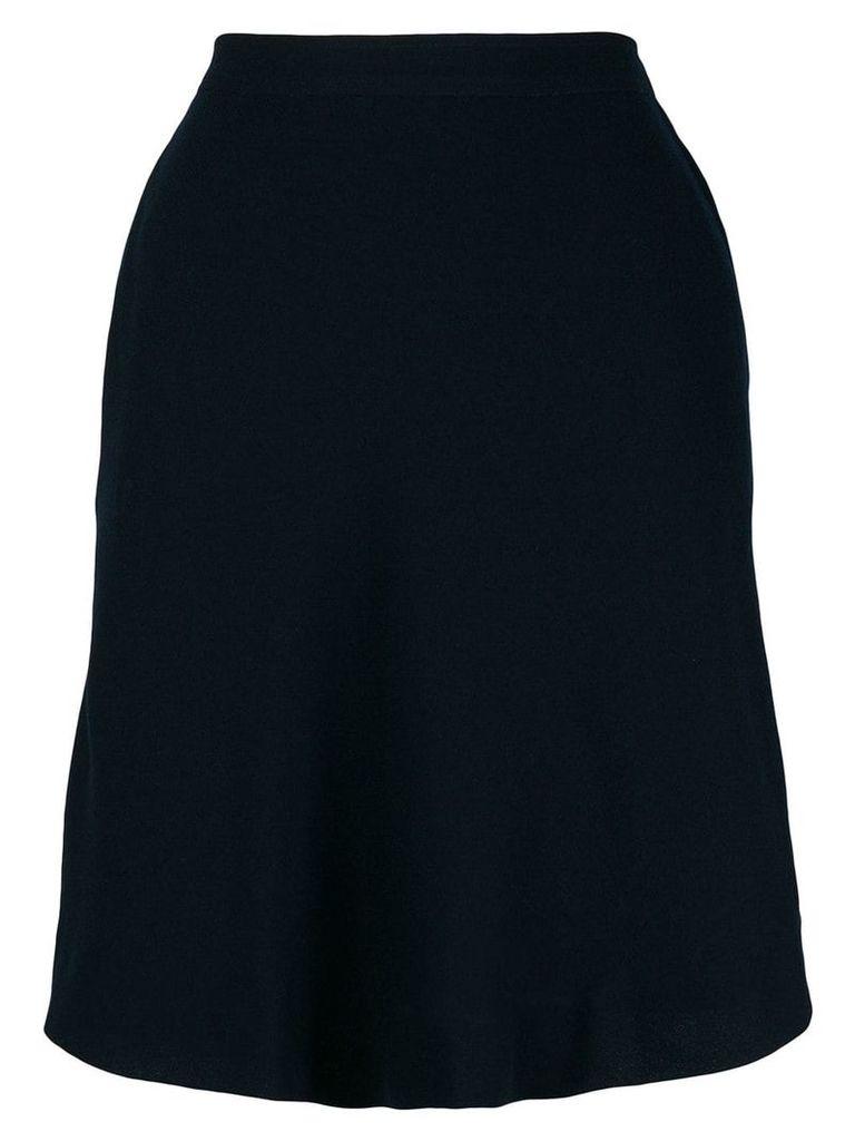 Yves Saint Laurent Vintage asymmetric straight skirt - Blue