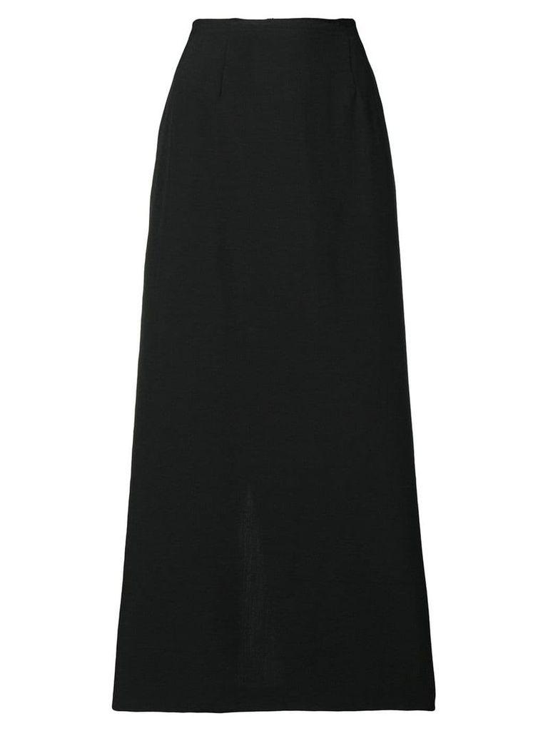 Comme Des Garçons Vintage raw-edge midi skirt - Black