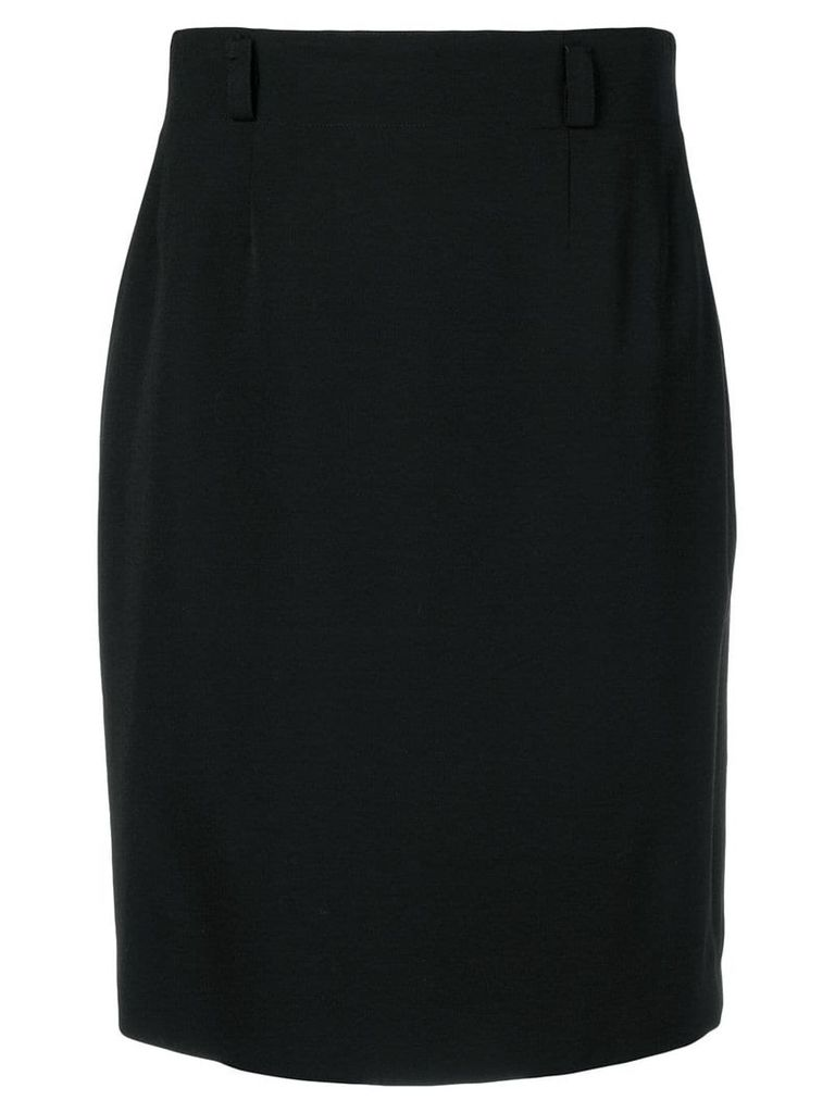 Jean Louis Scherrer Pre-Owned classic pencil skirt - Black